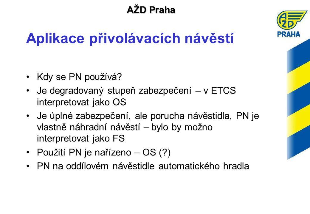 AŽD Praha Aplikace přivolávacích návěstí •Kdy se PN používá.