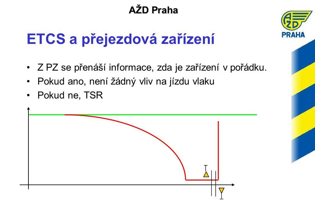 AŽD Praha ETCS a přejezdová zařízení •Z PZ se přenáší informace, zda je zařízení v pořádku.