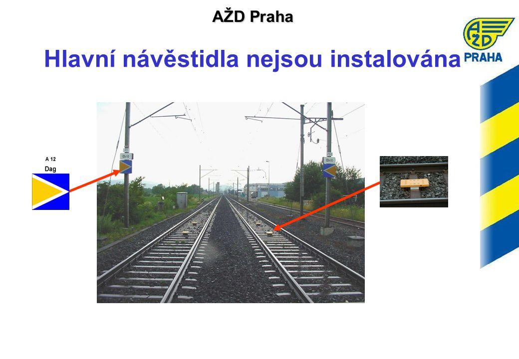 AŽD Praha Hlavní návěstidla nejsou instalována