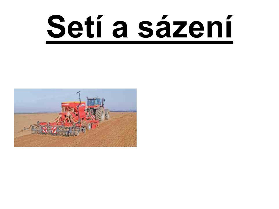 Řádkové setí nepravidelné: •Používá se pro výsev,obilovin,luskovin a olejnin atd.