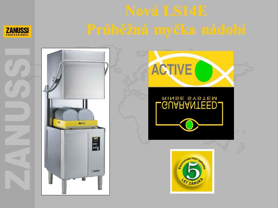 GRS = Garantovaný oplachový systém zaručuje, že množství a teplota oplachové vody bude vždy správná pro sanitaci nádobí.