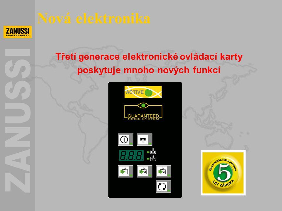 Třetí generace elektronické ovládací karty poskytuje mnoho nových funkcí Nová elektronika