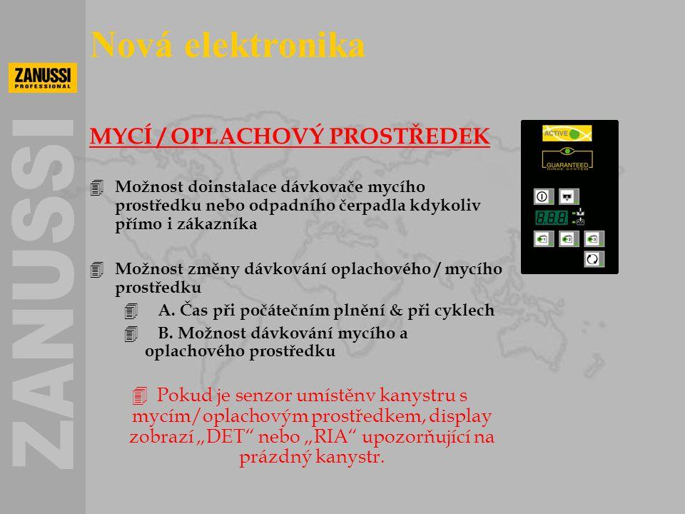 MYCÍ / OPLACHOVÝ PROSTŘEDEK 4 Možnost doinstalace dávkovače mycího prostředku nebo odpadního čerpadla kdykoliv přímo i zákazníka 4 Možnost změny dávko