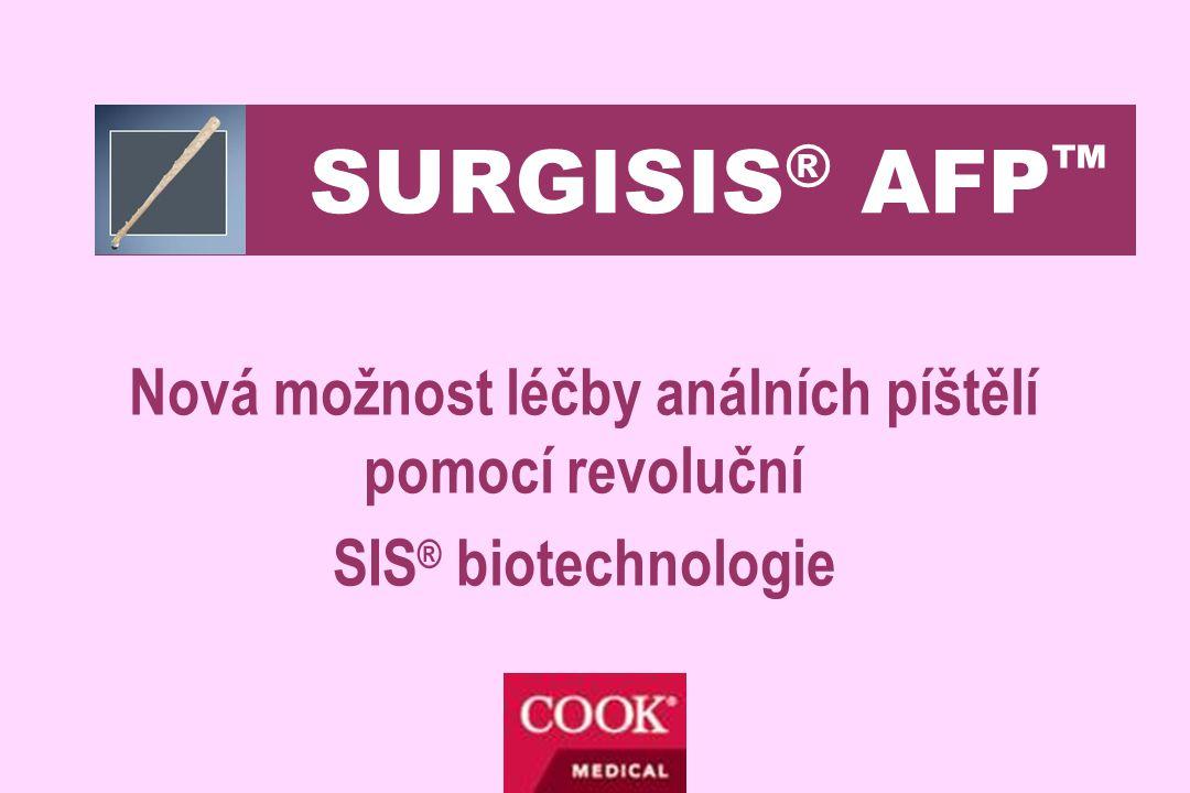 Princip SIS ® technologie •SIS – small intestinal submucosis •Přírodní biomateriál získaný ze submukozy tenkého střeva prasete •Patentovaný postup – odstranění celulárních struktur mukozy se zachováním intaktní struktury a složení matrix