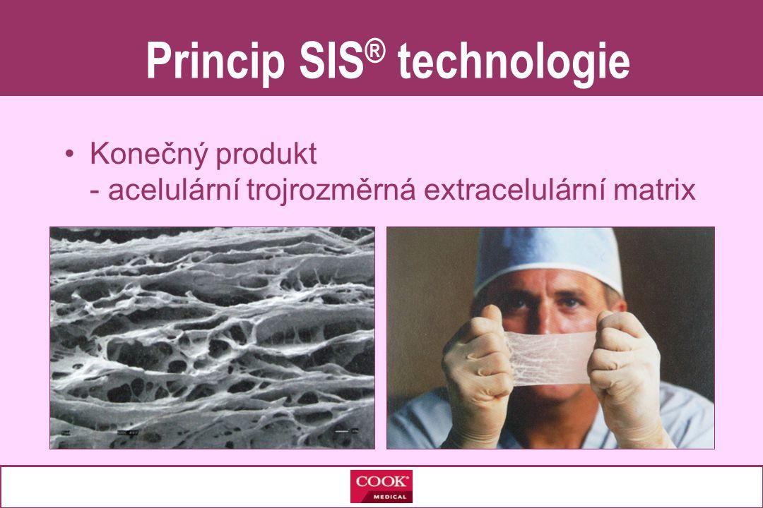 •Konečný produkt - acelulární trojrozměrná extracelulární matrix Princip SIS ® technologie