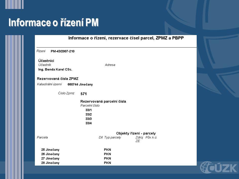 Správně vydané podklady pro GP •Vždy pomocí řízení PM •Vždy obsahují datové bloky SGI •SPI a SGI v jednom souboru •Export by měl obsahovat předepsaný rozsah datových skupin –NEMO, BDPA, VLST, JPVZ, –PKMP, BPEJ, GMPL, REZE