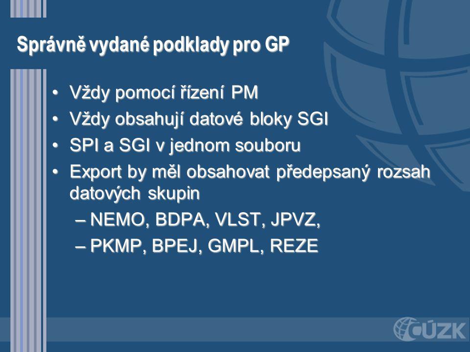 Import předaného GP