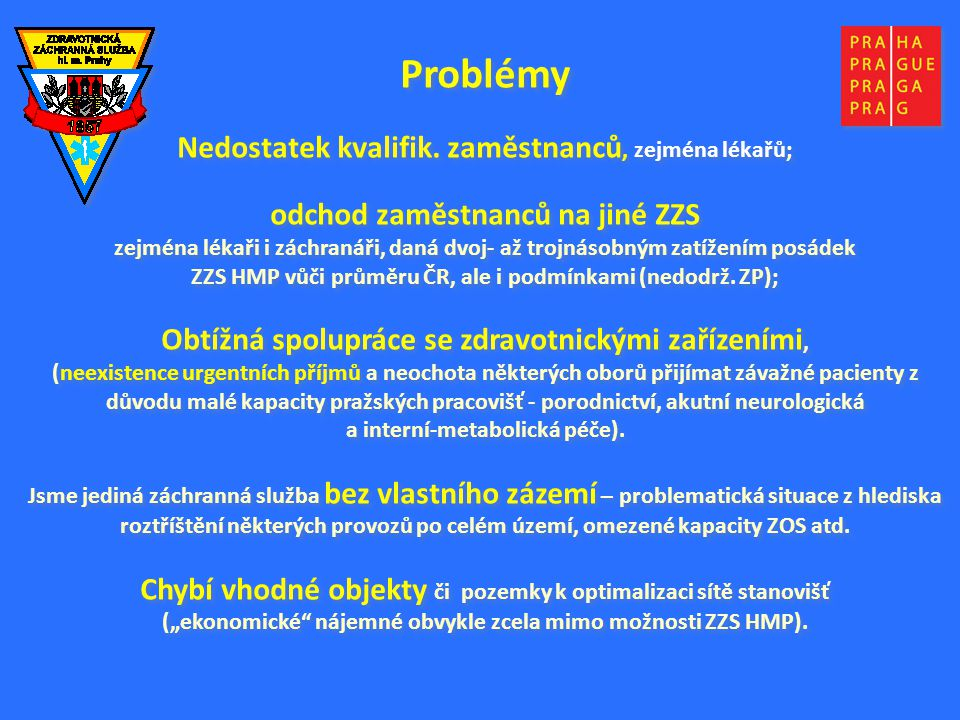 Problémy Nedostatek kvalifik.