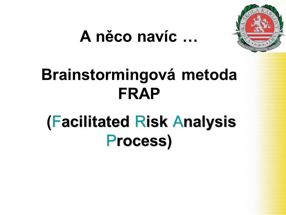 Facilitated Risk Analysis Process) A něco navíc … Brainstormingová metoda FRAP (Facilitated Risk Analysis Process)