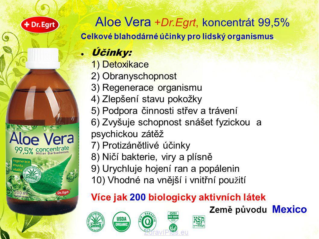 Celkové blahodárné účinky pro lidský organismus  Účinky: 1) Detoxikace 2) Obranyschopnost 3) Regenerace organismu 4) Zlepšení stavu pokožky 5) Podpor