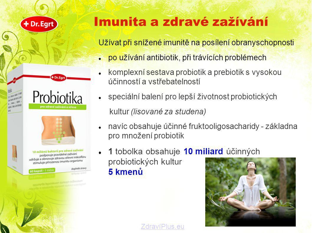 Užívat při snížené imunitě na posílení obranyschopnosti  po užívání antibiotik, při trávících problémech  komplexní sestava probiotik a prebiotik s
