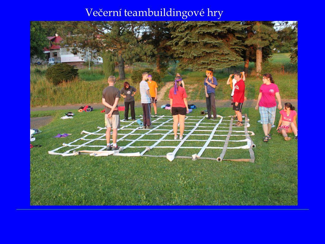 Večerní teambuildingové hry