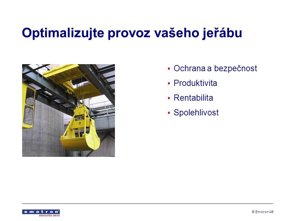 © Emotron AB Bezpečný provoz - plná kontrola nad výkonem