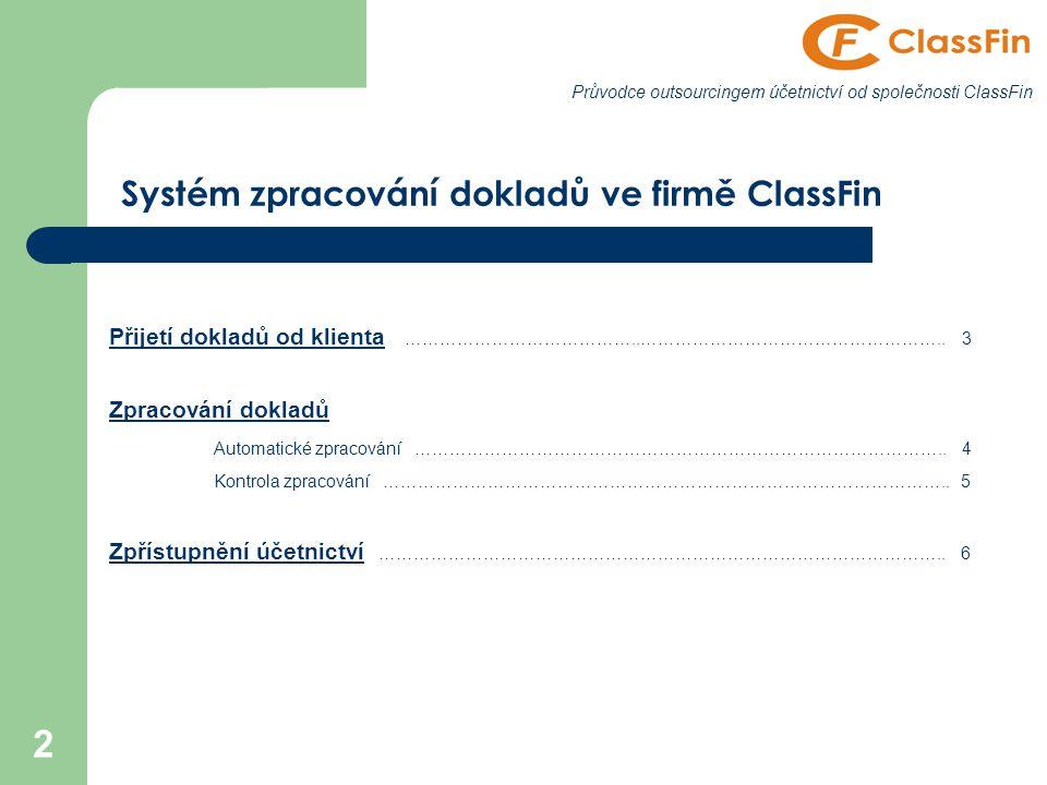 2 Přijetí dokladů od klienta …………………………………..……………………………………………..