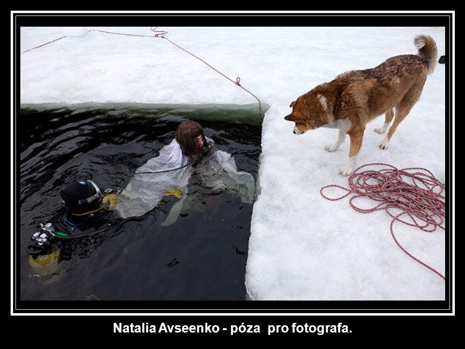 Natalie Avseenko: duševní příprava na tuto světovou premiéru.... Bude plavat nahá a potápět se ve vodě při -1,5 ° C s běluhami.