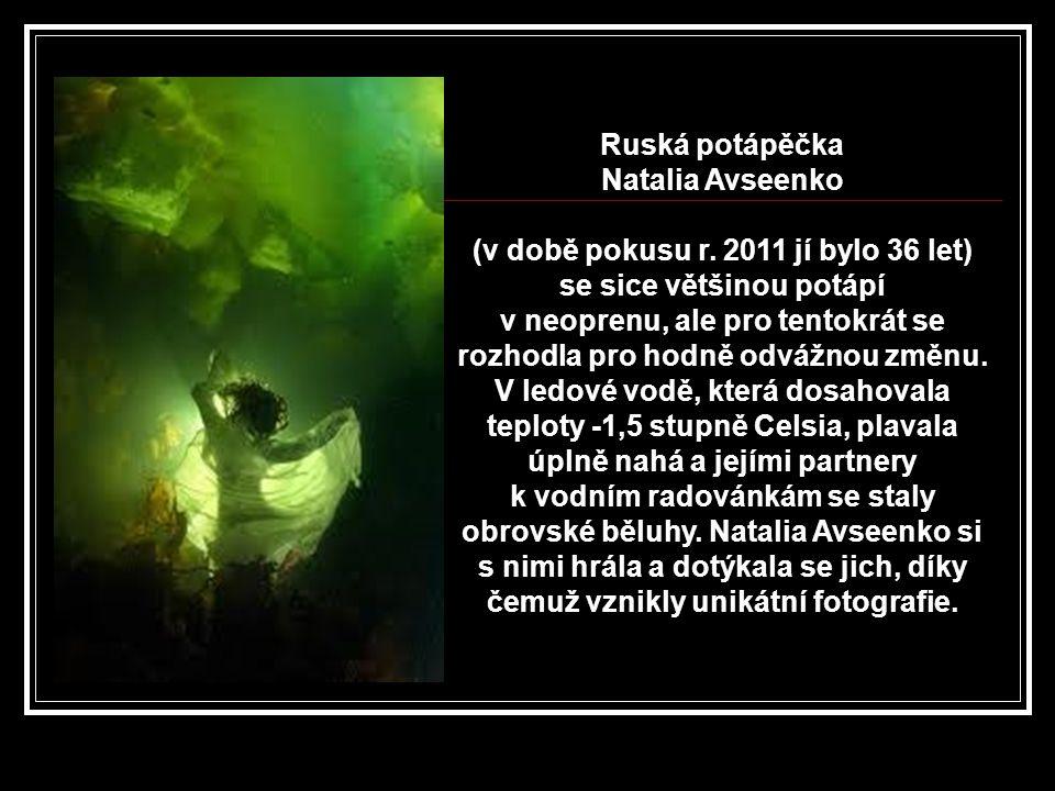 Natalia Avseenko - póza pro fotografa.