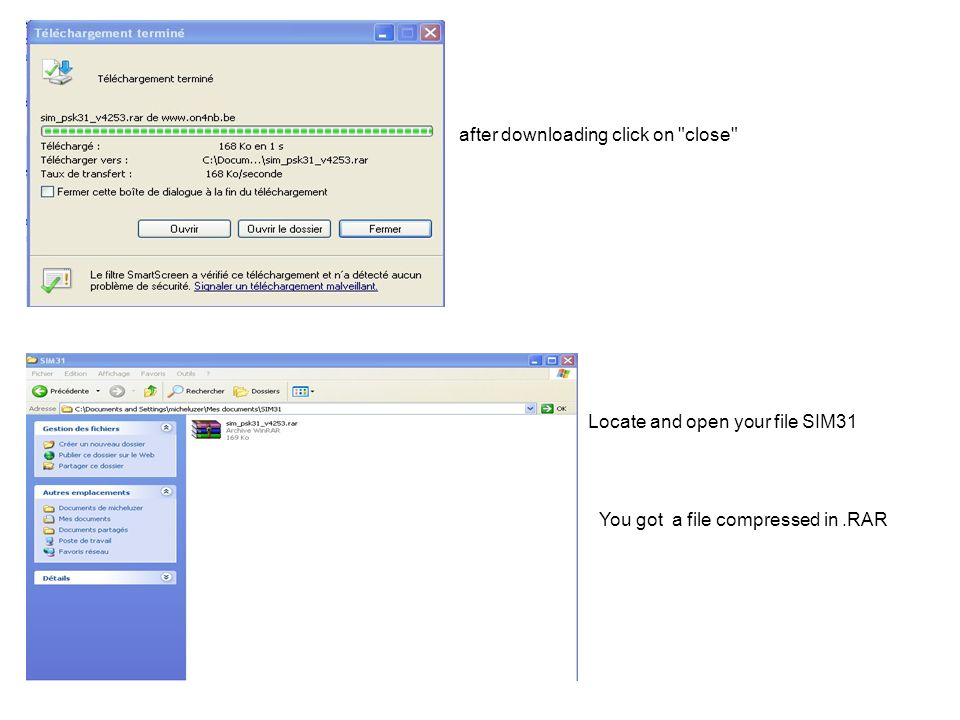 Když vám odpoví, program vyšle informace které jste vložili během konfigurace Dvojklikněte levým v přijatém textu na jméno Okno se otevře znovu a umožní vám označit NAME Opakujte stejnou proceduru pro QTH a pak LOCATOR Uvidíte okno vyplněné podobně jako zde Nyní odpovězte protistanici kliknutím na tlačítko MY INFO dvojklikněte levým na report (599) pro zapsání do MY S