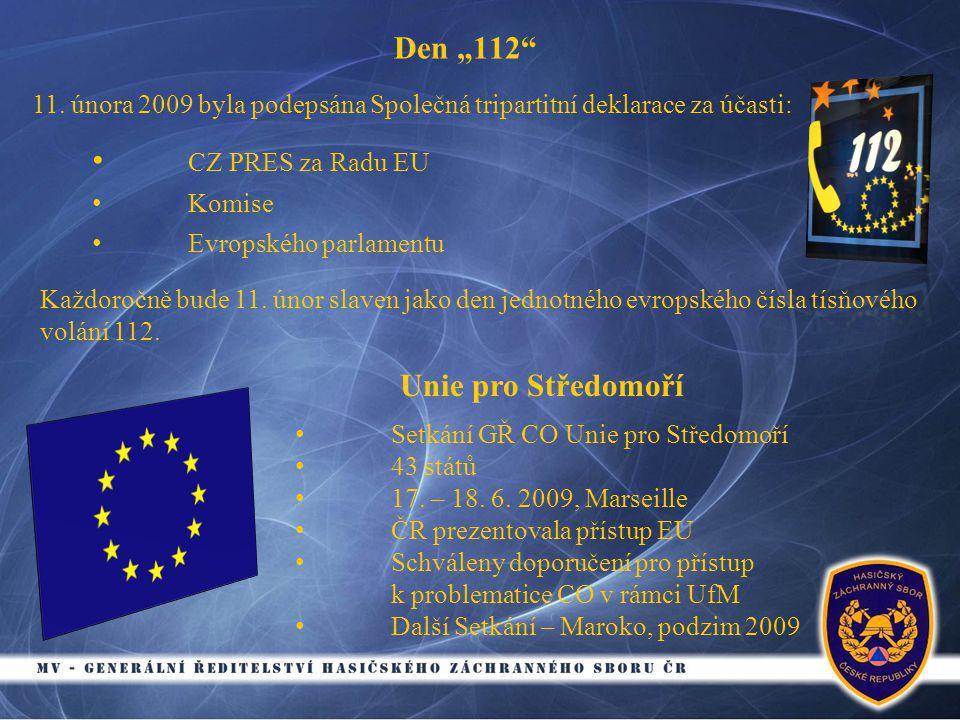 "Den ""112 • CZ PRES za Radu EU • Komise • Evropského parlamentu 11."