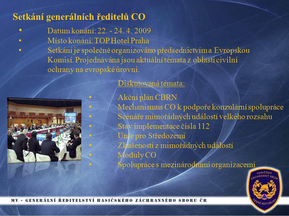 Setkání generálních ředitelů CO • Datum konání: 22.
