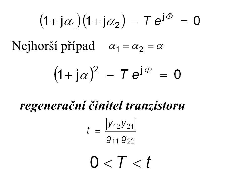 Nejhorší případ regenerační činitel tranzistoru