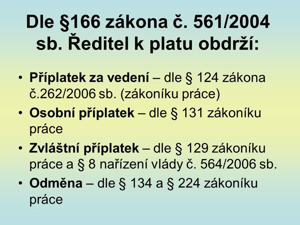 Dle §166 zákona č.561/2004 sb.