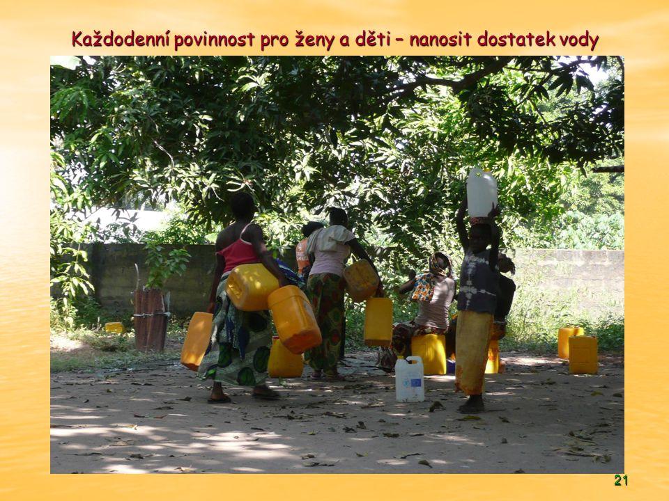 21 Každodenní povinnost pro ženy a děti – nanosit dostatek vody