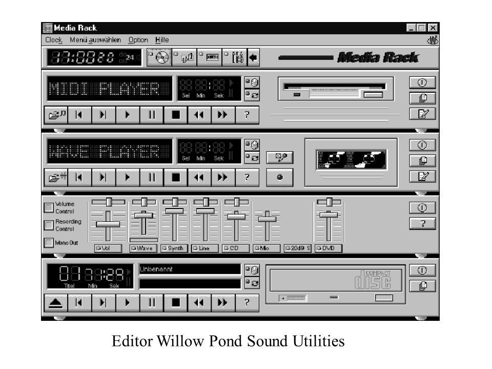 Editor Willow Pond Sound Utilities