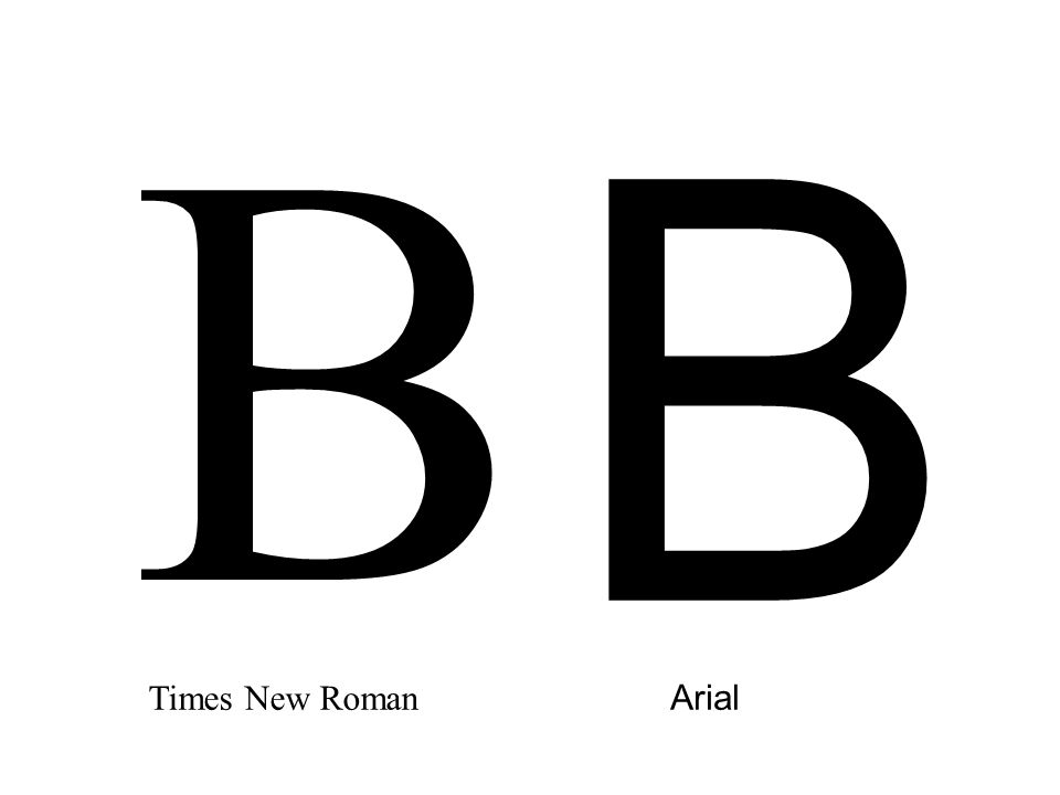 B B Times New Roman Arial