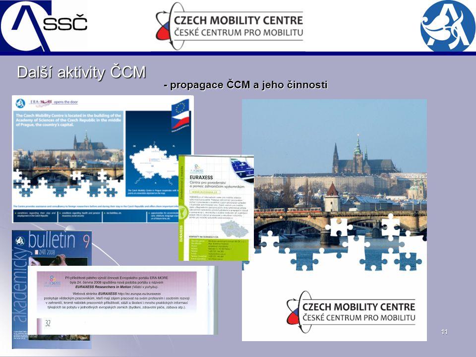 11 Další aktivity ČCM - propagace ČCM a jeho činnosti