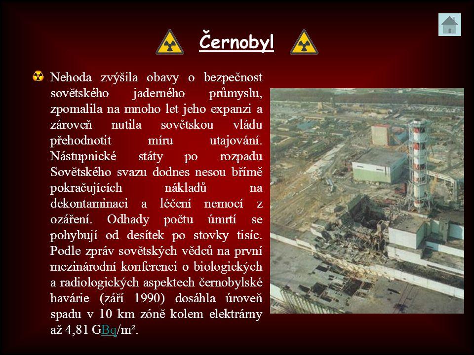 Černobyl Nehoda zvýšila obavy o bezpečnost sovětského jaderného průmyslu, zpomalila na mnoho let jeho expanzi a zároveň nutila sovětskou vládu přehodn