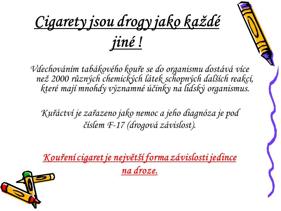 Cigarety jsou drogy jako každé jiné .