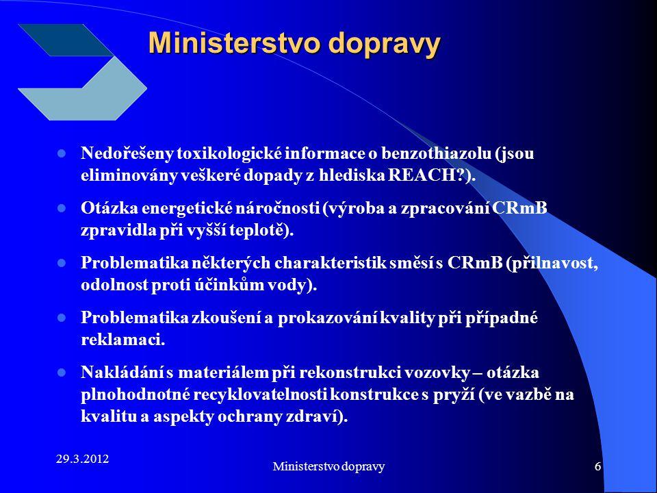 29.3.2012 Ministerstvo dopravy7 SFDI uvolnil z rozpočtu na rok 2012 100 mil.