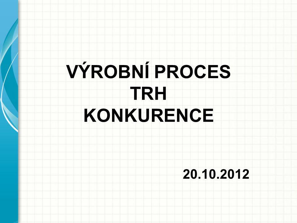VÝROBNÍ PROCES TRH KONKURENCE 20.10.2012