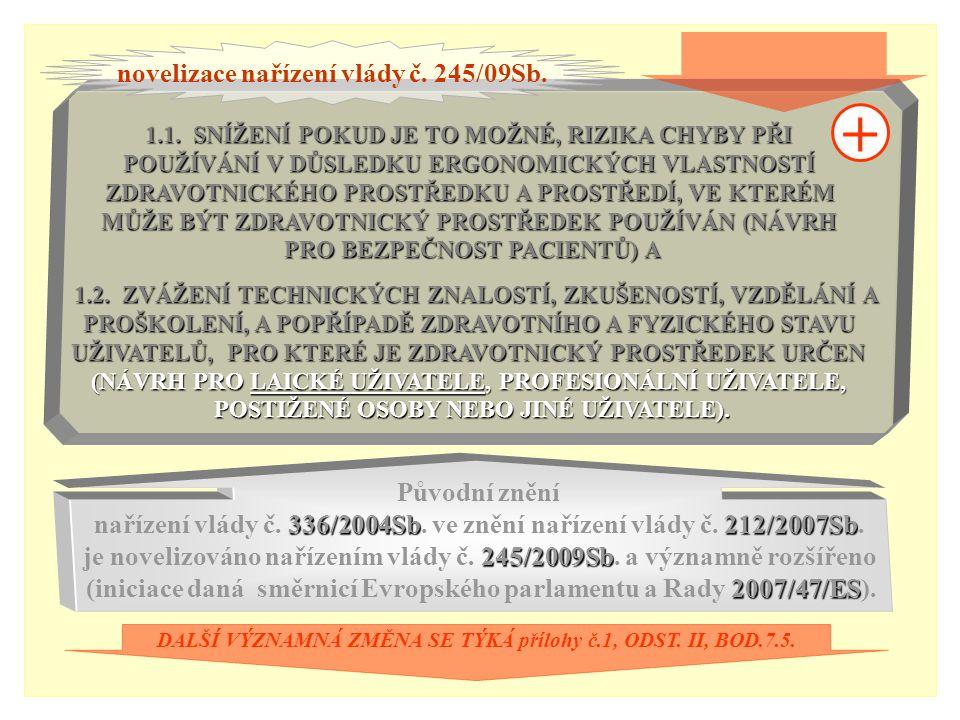 7.5.ZDRAVOTNICKÉ PROSTŘEDKY MUSÍ BÝT NAVRŽENY A VYROBENY TAK, 7.5.