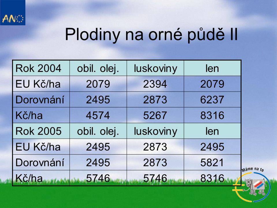 Plodiny na orné půdě II Rok 2004obil.