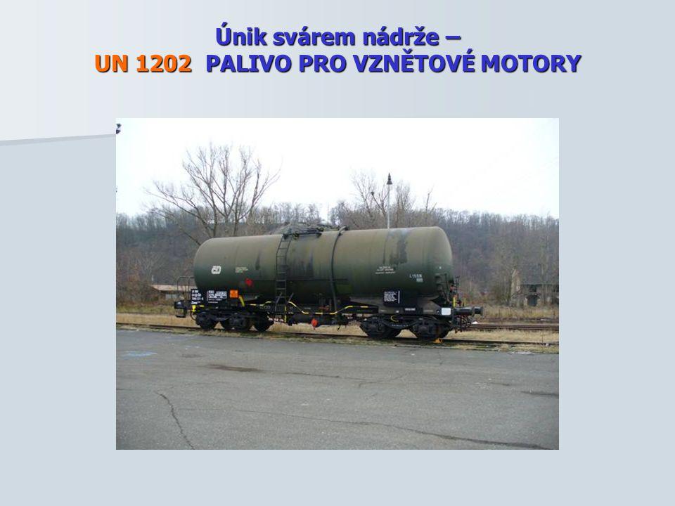 Únik svárem nádrže – UN 1202 PALIVO PRO VZNĚTOVÉ MOTORY