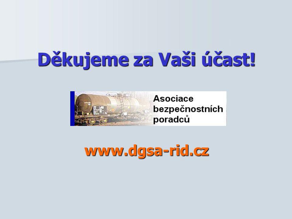 Děkujeme za Vaši účast! www.dgsa-rid.cz