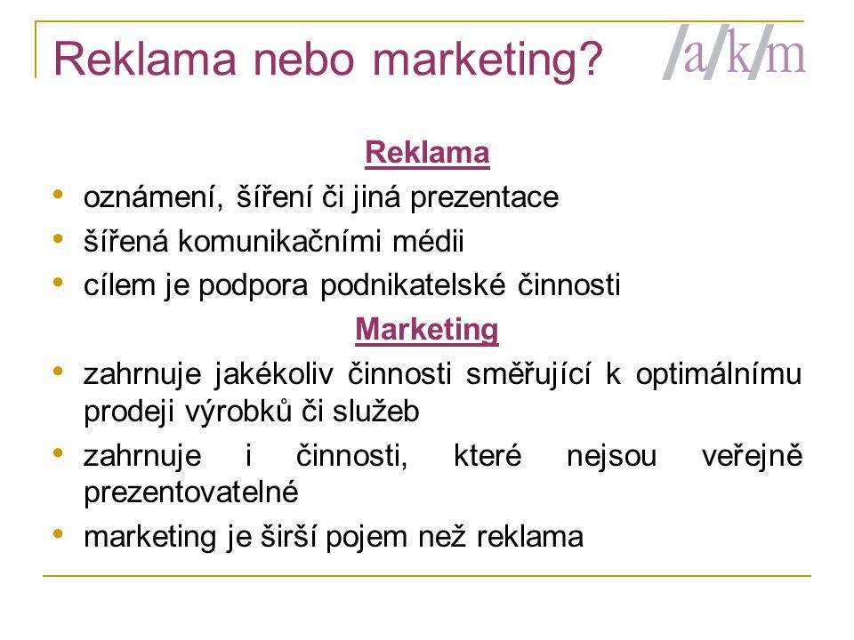 Reklama nebo marketing.