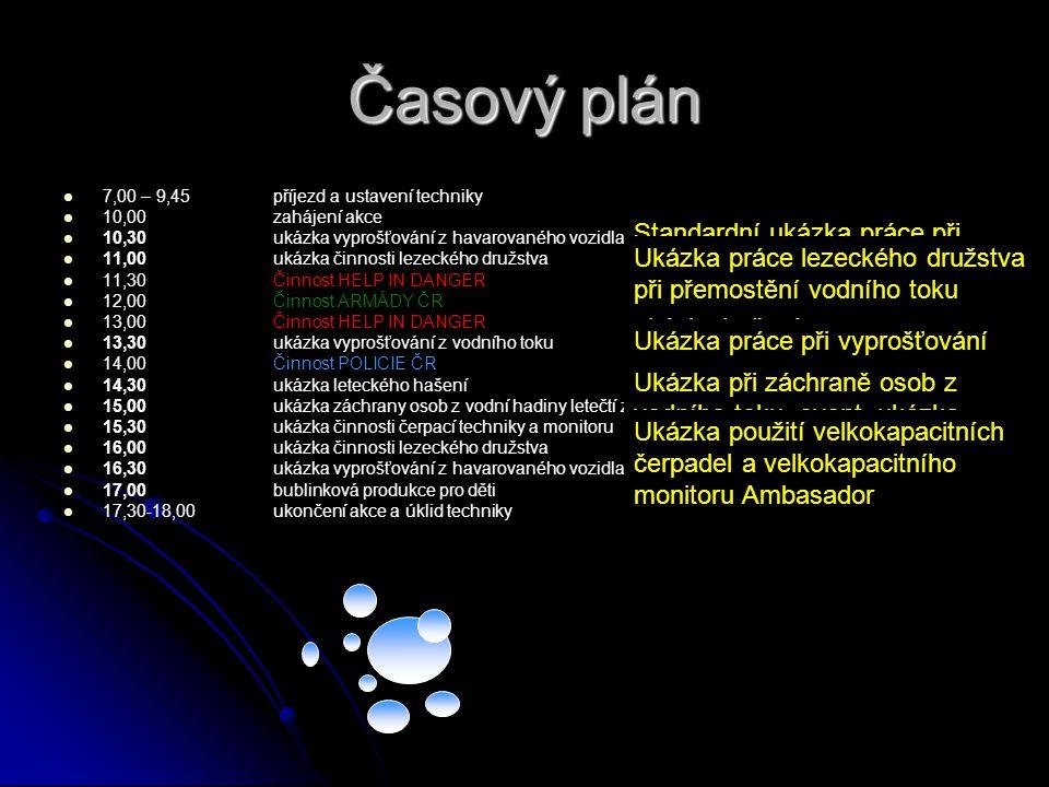 Časový plán   7,00 – 9,45 příjezd a ustavení techniky   10,00zahájení akce   10,30ukázka vyprošťování z havarovaného vozidlapod hradbami   11,