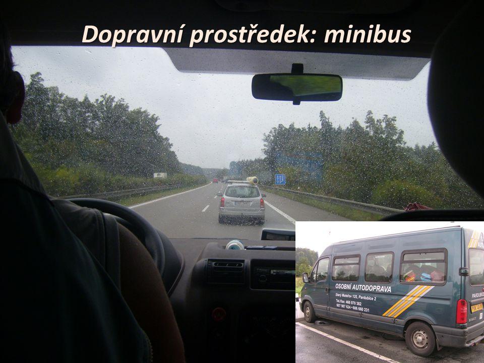 Dopravní prostředek: minibus