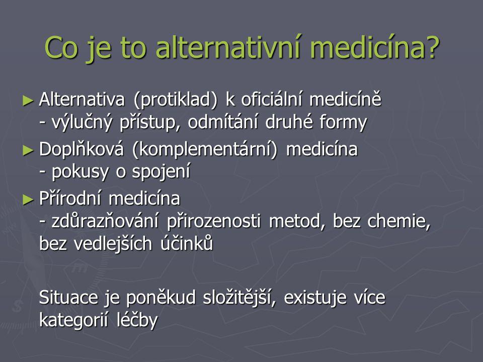 Co je to alternativní medicína.