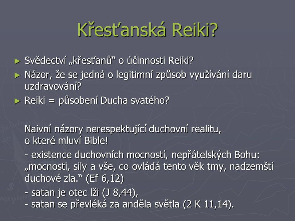 """Křesťanská Reiki.► Svědectví """"křesťanů o účinnosti Reiki."""