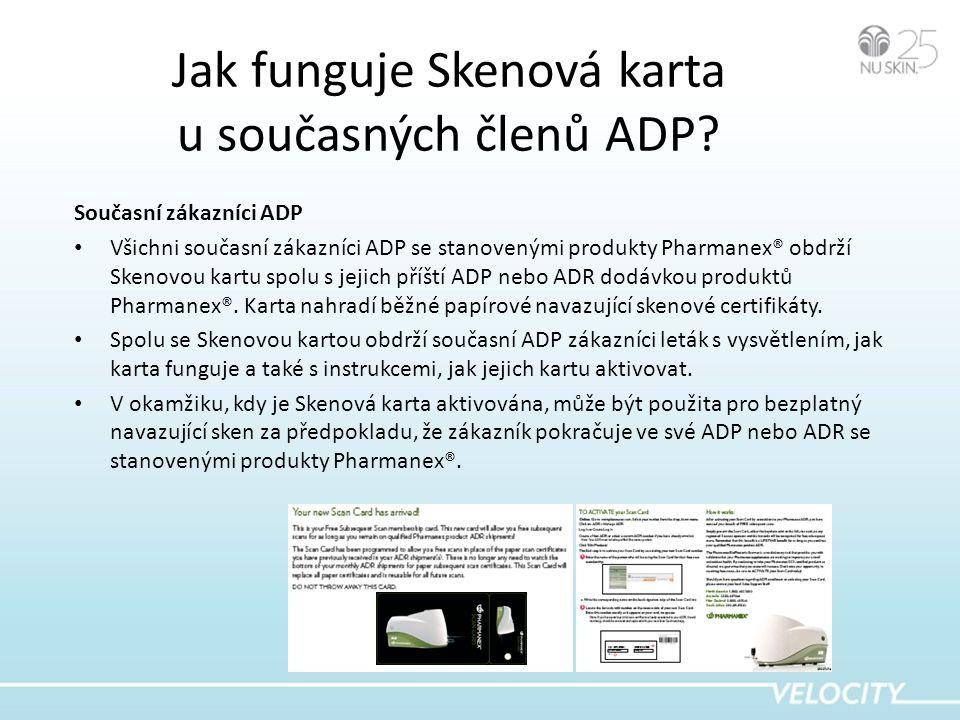 Jak funguje Skenová karta u současných členů ADP.
