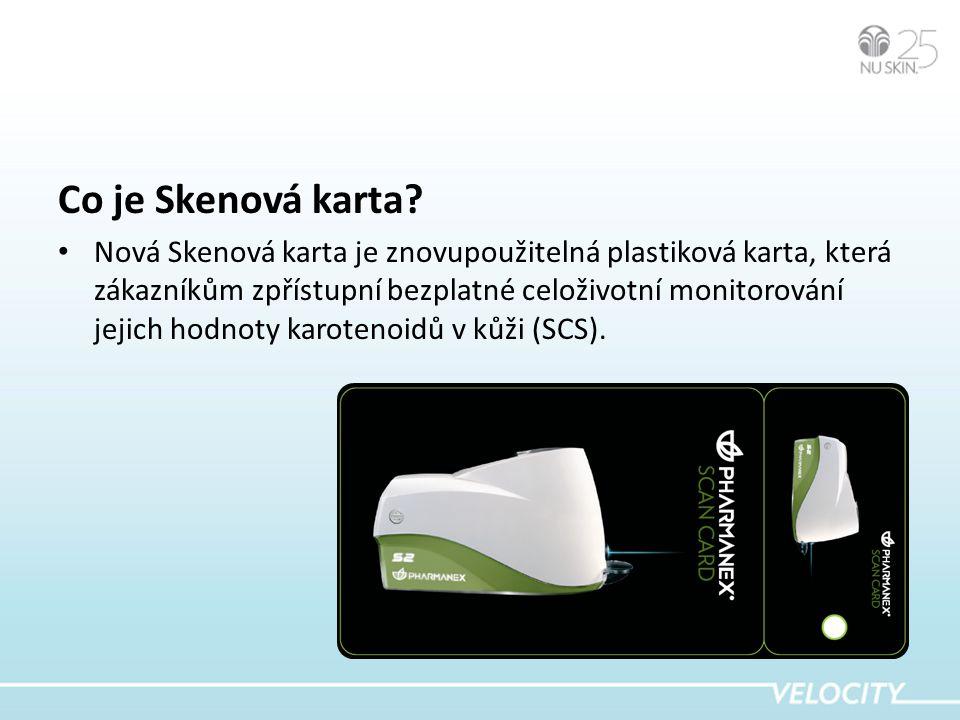 Skenové karty můžete spravovat online.
