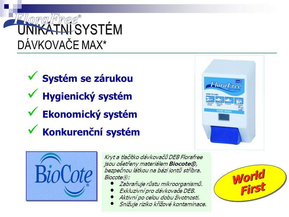 UNIKÁTNÍ SYSTÉM UNIKÁTNÍ SYSTÉM DÁVKOVAČE MAX*  Systém se zárukou  Hygienický systém  Ekonomický systém  Konkurenční systém Kryt a tlačítko dávkov