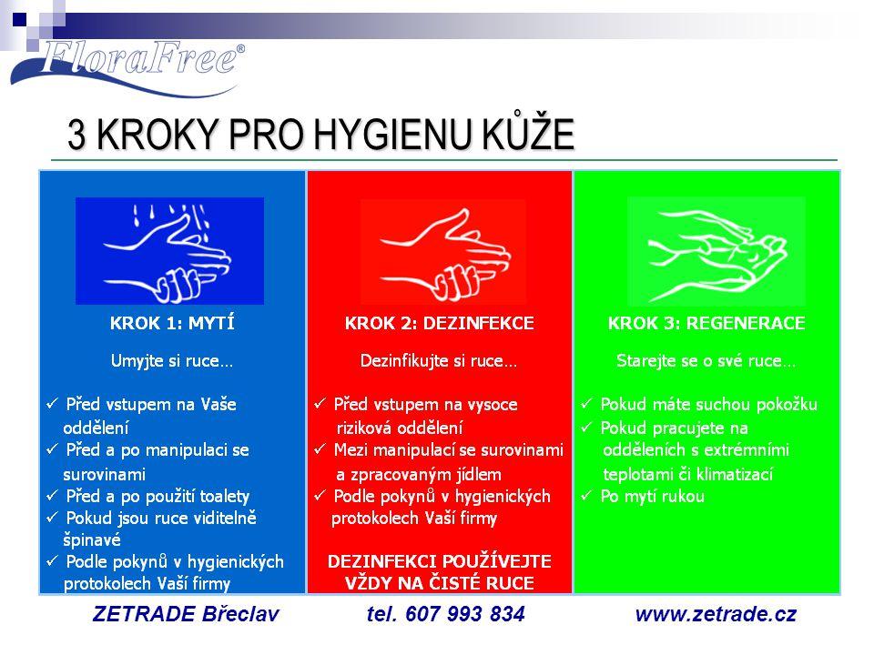 3 KROKY PRO HYGIENU KŮŽE ZETRADE Břeclav tel. 607 993 834 www.zetrade.cz