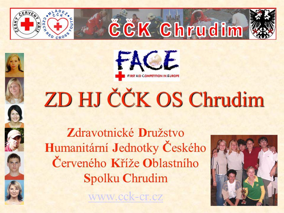 ZD HJ ČČK OS Chrudim Zdravotnické Družstvo Humanitární Jednotky Českého Červeného Kříže Oblastního Spolku Chrudim www.cck-cr.cz