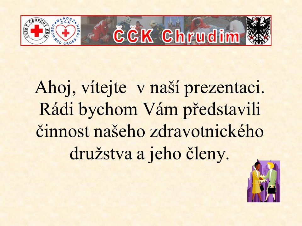 Co Vás čeká: •Stručné informace o ČČK a M-ČČK •Seznámení s oblastní skupinou Chrudim •Představení družstva, jeho činnosti a úspěchů •Členové družstva – kdo jsme.
