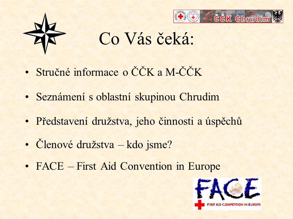 ČČK •Národní společnost ČČK je členem mezinárodní federace Červeného kříže a Červeného půlměsíce •Pomáhá státním orgánům, při katastrofách a při řešení následků těchto živelných pohrom •Šíří znalost první pomoci mezi širokou veřejnost •Zabývá se řadou dalších humanitárních činností • www.cck-cr.czwww.cck-cr.cz