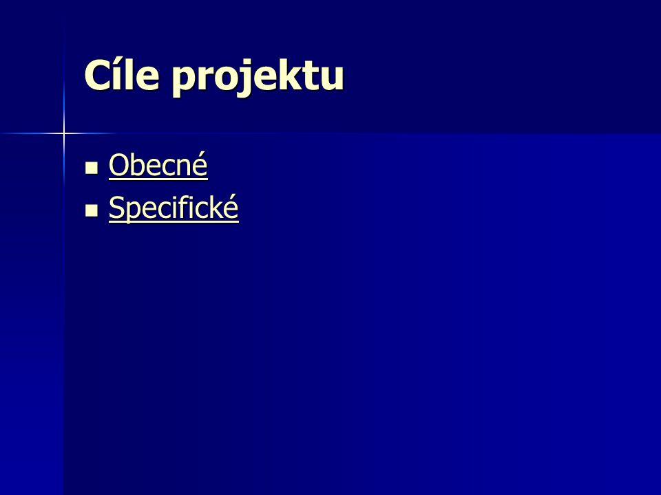 Cíle projektu  Obecné Obecné  Specifické Specifické